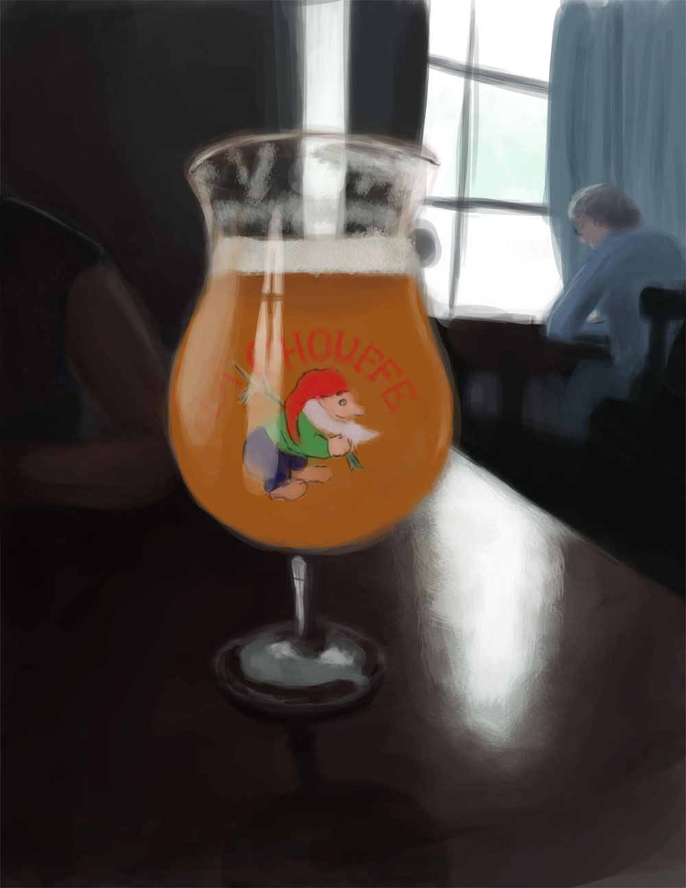 Digital Painting of a La Chouffe