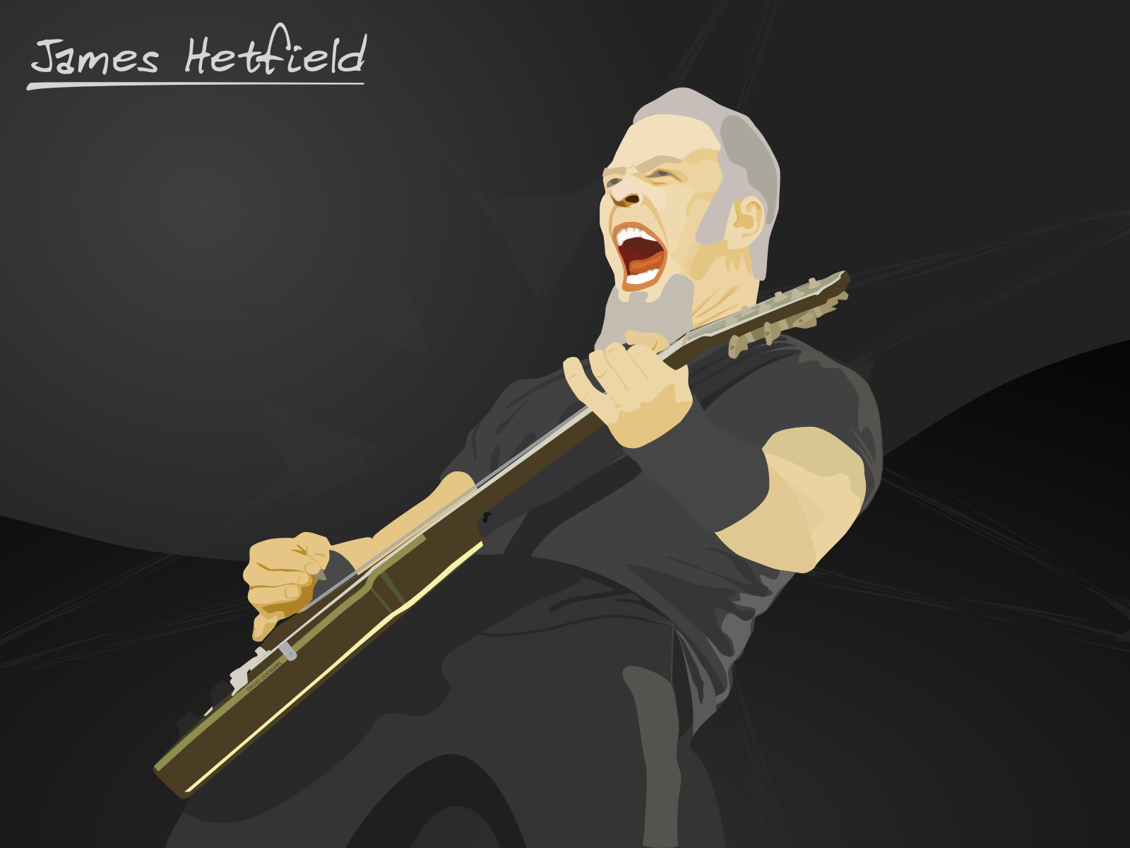 Vector of James Hetfield